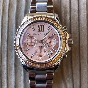 Michael Kors Everest Peach Chronograph Watch!